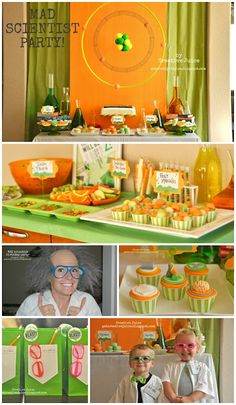 food, decorations, tutorials, recipes, EASY experiements & more! Luv this for yousaf birthday party Mad Science Party, Mad Scientist Party, Experiment, Food Decorations, Birthday Fun, Birthday Ideas, Birthday Parties, Childrens Party, Party Time