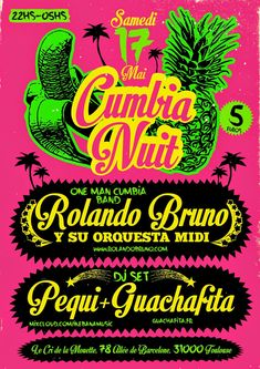 cumbia poster - Buscar con Google Toulouse, Moda Peru, Music Flyer, Hand Drawn Type, Book Posters, Poster Layout, Party Flyer, Punk, Psychedelic Art