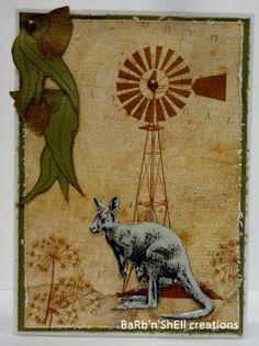 BaRb'n'ShEll Creations - Kaszazz Aussie Animals - Kangaroo - BaRb