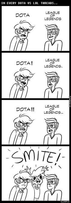 League vs Dota - Smite Wins