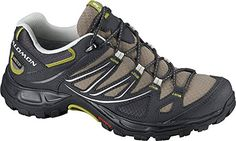 Salomon Womens Ellipse GTX Hiking Shoes Thyme  Asphalt  Dark SGreen 8  Collapsing Waterbottle Bundle *** Click image for more details.(This is an Amazon affiliate link and I receive a commission for the sales)