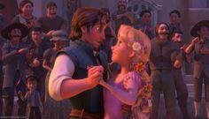 Day 17: Favorite Dance Scene-Kingdom Dance (Tangled) It's so cute, the way Flynn looks at Rapunzel!
