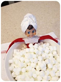 Elf on the Shelf is a great addition to any family Christmas. But why leave him sitting on a shelf? Here are 24 hilarious Elf on the Shelf ideas to get you right through to Christmas eve. Noel Christmas, Family Christmas, All Things Christmas, Christmas Ideas, Xmas, Christmas Wrapping, Funny Christmas, Christmas Crafts, Elf On The Shelf