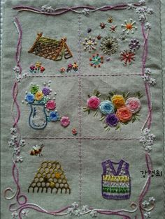 Flower Embroidery Designs, Hand Embroidery, Embroidery Ideas, Embroidery Books, Bordado Floral, Stitch Book, House Quilts, Learn To Sew, Paper Cards