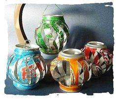 Tuto recyclage: réaliser des lanternes, lampions avec des canettes de soda
