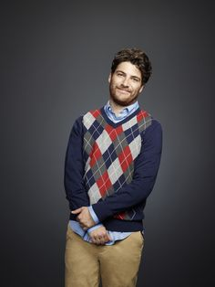 Adam Pally is literally perfection in an argyle sweater. #themindyproject