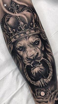 Lion tattoo, lion tattoo on the wrist, lion tattoo models, lion tattoo on the wrist - Trend Tattoo Styles Wolf Tattoos, Lion Forearm Tattoos, Lion Head Tattoos, Cute Tattoos On Wrist, Mens Lion Tattoo, Animal Tattoos, Leg Tattoos, Body Art Tattoos, Lion Tattoos For Men