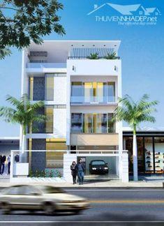 Mẫu thiết kế nhà phố đẹp phong cách hiện đại -> Phối cảnh 5