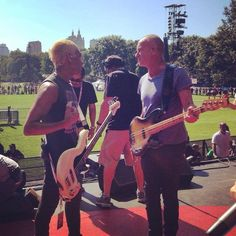 Bass conference with Sting at Global Citizen Festival 2014