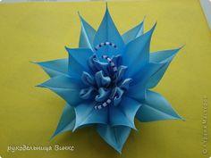 PETAL FOLDING, FLOWER CENTER; Master class Tsumami Kanzashi: Another floral tape.  Photo 1