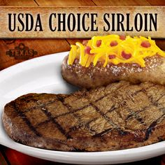 Our Sirloin Steaks are our most popular because they are hearty, flavorful, and a great value. Choose from our 6, 8, 11, and 16 ounce cuts. Served with your choice of two sides. #MomLovesRoadhouse