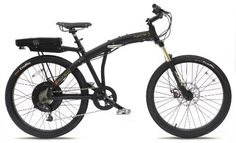 Cool Prodeco V3 Phantom O 8 Speed Folding Electric Bicycle, Matte Black, 26-Inch/One Size