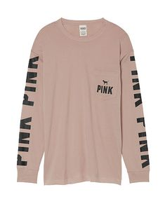 Build your wardrobe staples with this Flecked V-Neck T-Shirt from Mango. Brown Long Sleeve Shirt, Pink Long Sleeve Tops, Long Sleeve Tee Shirts, Long Sleeve Outfits, T Shirt Pink, Pink Shirts, Brown Shirts, Pink Brand Shirts, Pink Outfits