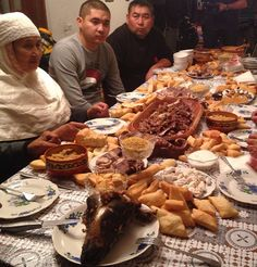Family meal, Kazakhstan