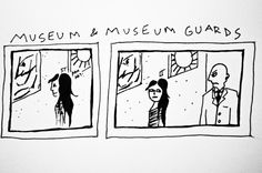 teens on museum guards