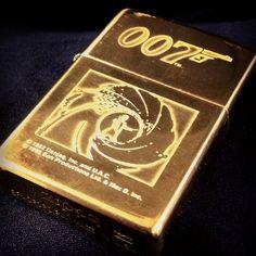 James Bond 007 Brass Zippo lighter