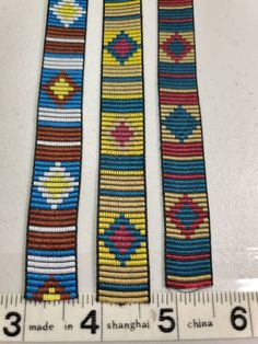 Native bar jacquard fabric trim Sold by the Yard Bead Loom Bracelets, Jacquard Fabric, Loom Beading, Primary Colors, Yards, Nativity, Choices, Larger, Rolls
