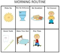ourhomecreations: Printable Morning and Nightime Routine Charts for ...