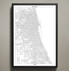 This map was originally created in 1886 following several damaging fires that had wreaked havoc on the windy city. This vintage style city map available in three sizes and is printed on premium archival stock #chicago-map-print