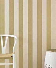 Graham & Brown Ariadne Gold Stripe Wallpaper - Tan/Beige