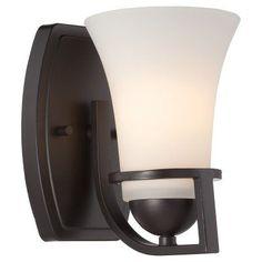 Nuvo 60/5 Neval 1 Light Bathroom Vanity Light Sudbury Bronze - 60/5581