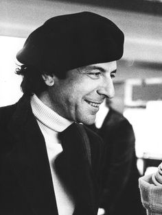 """°lc°Leonard Cohen, Paris (1976) by Claude Gassian ...  """"You'll go your way and I'll go your way too"""""""