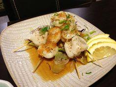 Seared Scallops at Asoyami Japanese Restaurant on Kenaston in Winnipeg