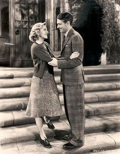 """Laurence Oliver & Joan Fontaine from movie """"Rebecca"""". Always loved this movie and Joans style in it..."""