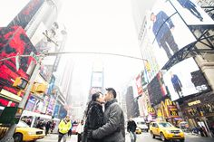 New York City Wintery Engagement Session by Sarina Love Photography