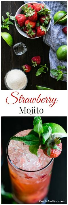 Strawberry Mojito | Vanilla And Bean
