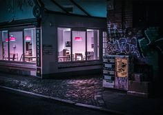 """'After Hours in Hamburg' is an ongoing series by photographer Mark Broyer, shot at night in the German city between 2016 and """"Trying to find beauty in the ordinary."""" More photography inspiration via Behance Urban Photography, Night Photography, Street Photography, Wedding Photography, Grunge Photography, Minimalist Photography, Color Photography, Newborn Photography, Night Aesthetic"""
