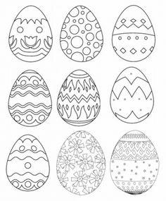 Doodle of easter egg vector art Easter Coloring Pictures, Easter Egg Coloring Pages, Colouring Pages, Coloring Sheets, Coloring Book, Egg Vector, Vector Art, Easter Drawings, Easter Egg Pattern
