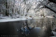 Icy lake by Bastian  Schwannecke, via 500px