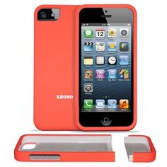 KHOMO Orange Slider Case with Rubberized texture (reviews complain that color is actually a bright orange, not the pictured coral)