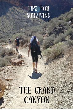 Tips for surviving the Grand Canyon. The Angel Bright Trail can be a tough hike but you can do it with the right food and gear! Hiking the Grand Canyon, How to hike the Grand Canyon. Tips for surviving the grand canyon. How to hike the grand canyon, tips