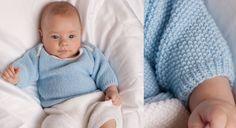 L'ensemble brassière et pantalon est indémodable dans la garde-robe de bébé. Confortable et pratique, le top est proposé en deux versions : encolure ronde ou emmanchures américaines ...