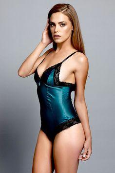 Love Haus Teal Satin Lace Bodysuit - Playful Promises http://www.playfulpromises.com/shop/product/1613/love-haus-teal-satin-lace-bodysuit