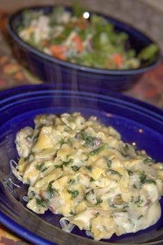 Gluten Free Spinach and Artichoke Pasta