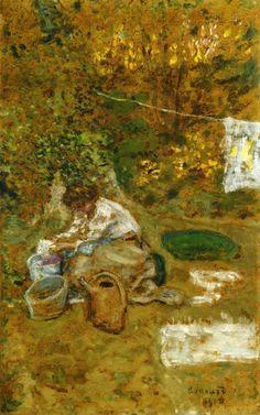 Pierre Bonnard The Washing 1900