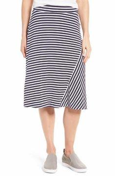 Caslon® A-Line Knit Midi Skirt (Regular & Petite)