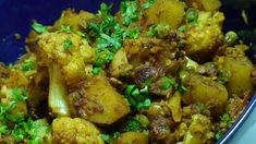 Aloo Gobi Masala is a flavorful Indian vegetarian dish made with potatoes, cauliflower and many spices which makes it fragrant