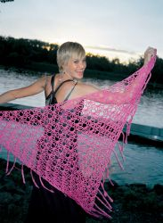 Sweet Pea Shawl  By: Amie Hirtes from the book the Happy Hooker