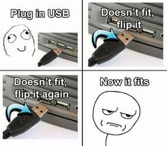 Why does it take three times to plug something in that only has two options?