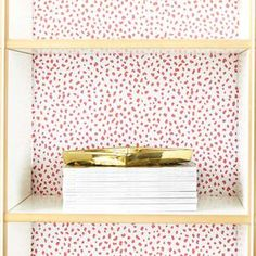 Speckle Removable Wallpaper in Pink