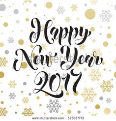 2017 vector pattern of winter golden and silver crystal ornaments for happy new year greeting card golden christmas decoration vector poster with gold foil