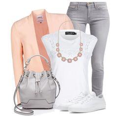 Peach & Grey