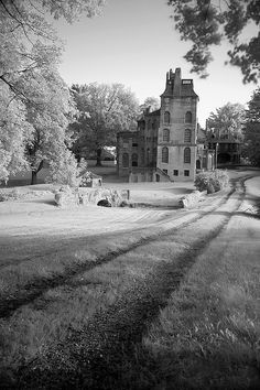 Abandoned Henry Mercer's Castle - Fonthill (now a museum) is situated on 60 acres of land in Doylestown, PA. It was built by Henry Chapman Mercer, completed in 1912, and used as his residence.