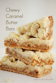 Cookie Crumbs & Sawdust: chewy caramel butter bars thanksgiving