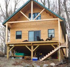 Wood Frame Cabin by OwenChristensen http://www.cabinbuilds.net/wood-frame-build-by-owenchristensen_2