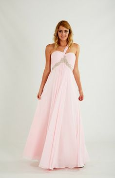 Flowing pink Prom Dress by Crystal Breeze